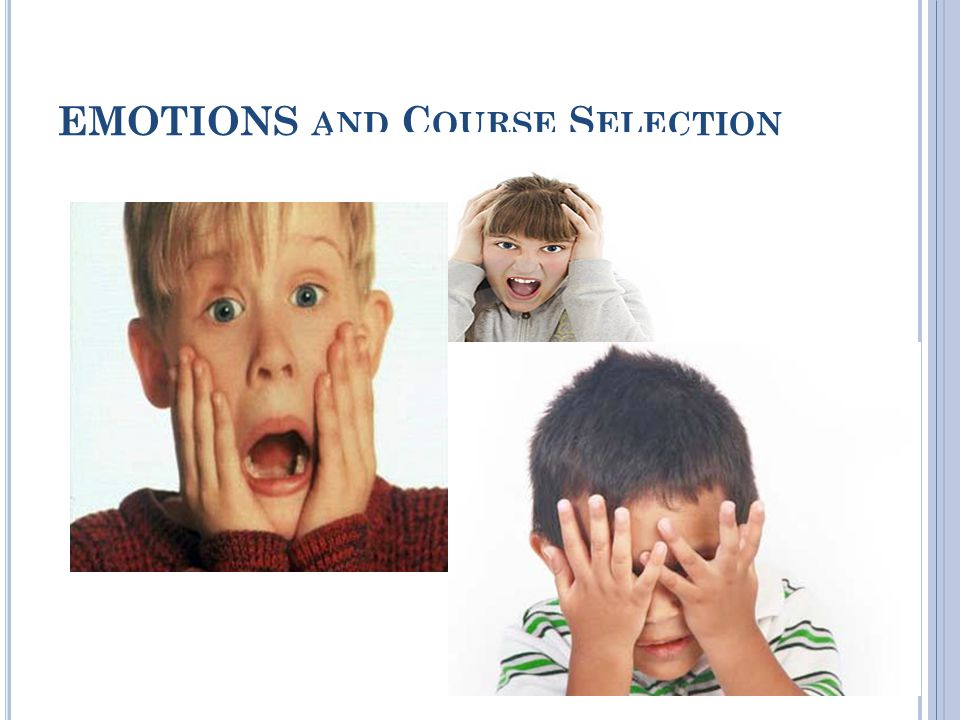 EMOTIONS AND C OURSE S ELECTION