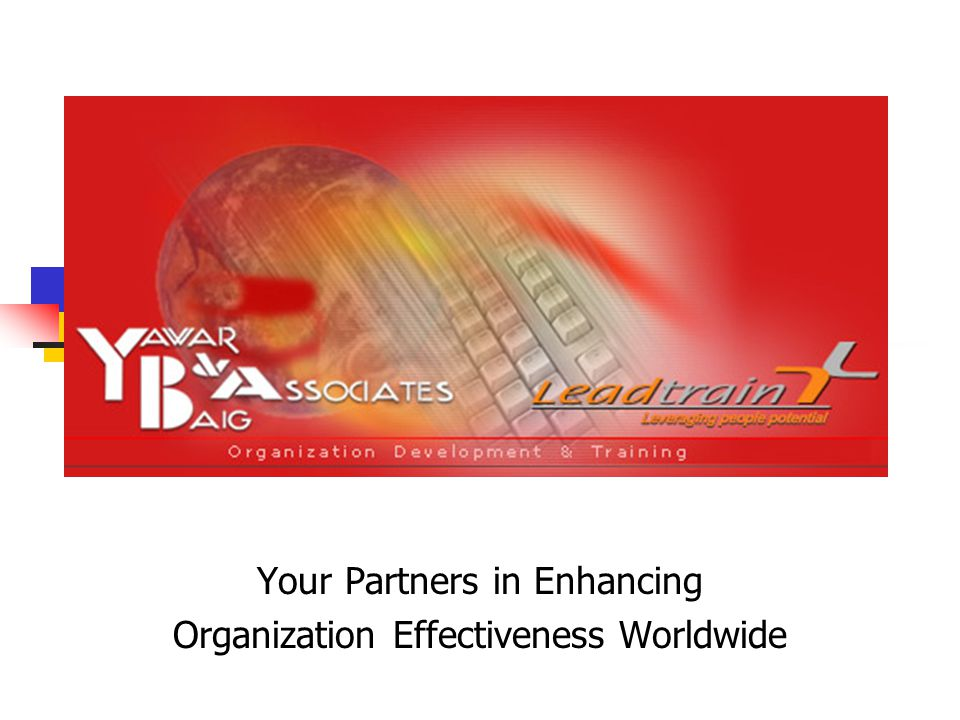 Your Partners in Enhancing Organization Effectiveness Worldwide