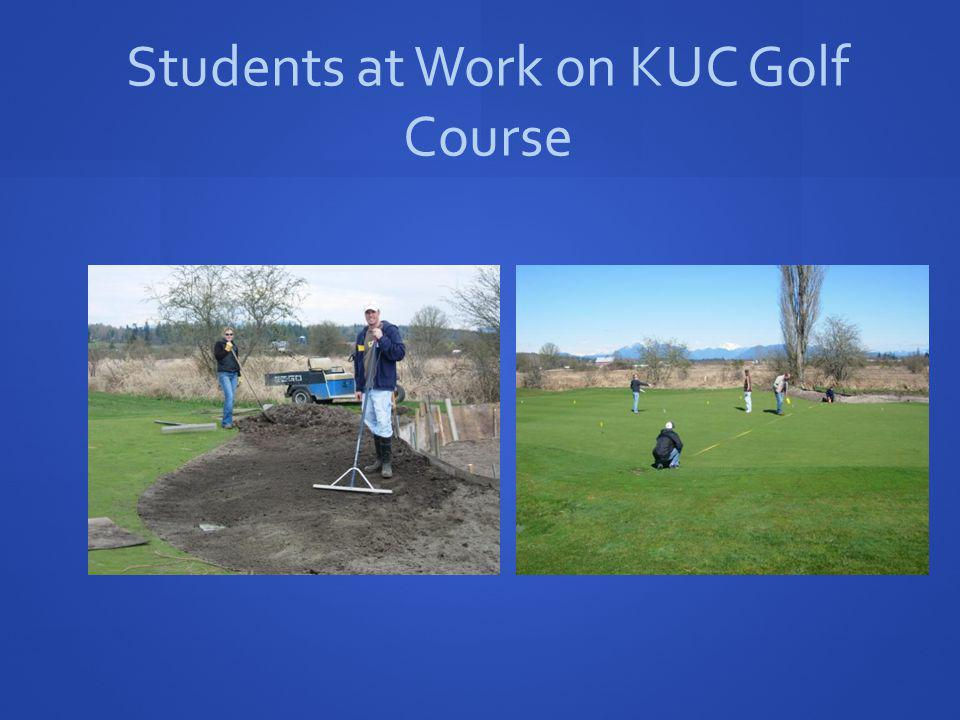 Students at Work on KUC Golf Course