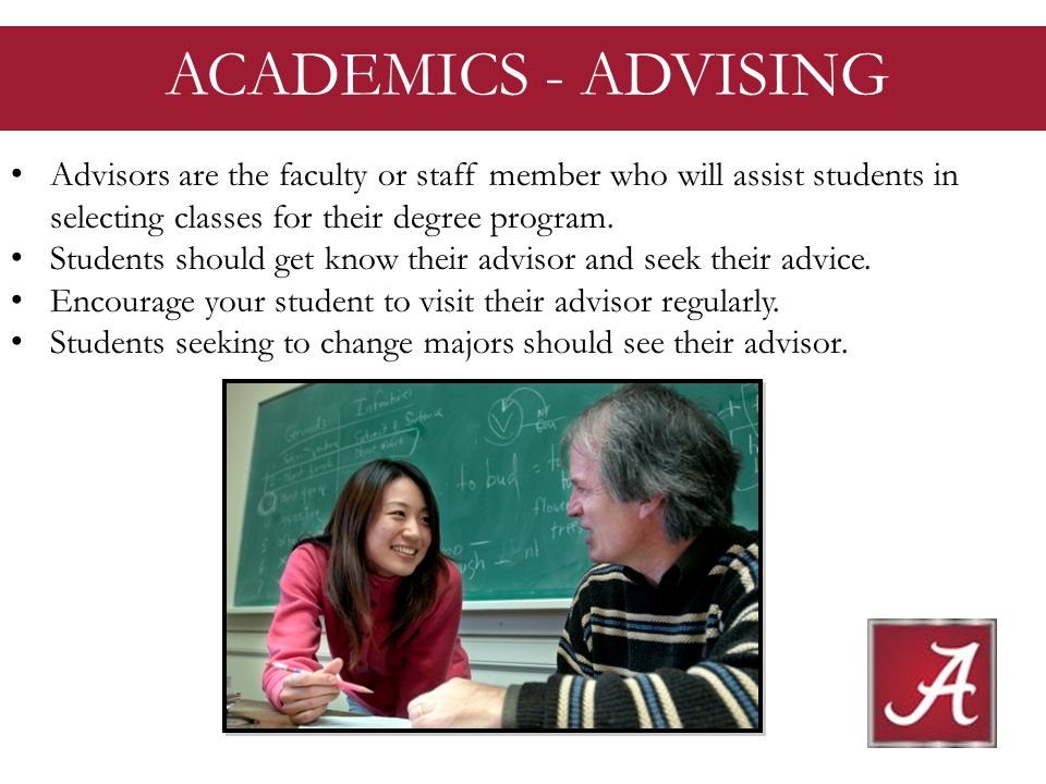 Advisors are the faculty or staff member who will assist students in selecting classes for their degree program.