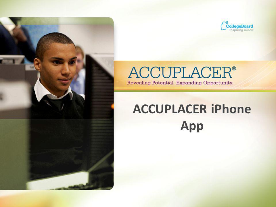 ACCUPLACER iPhone App