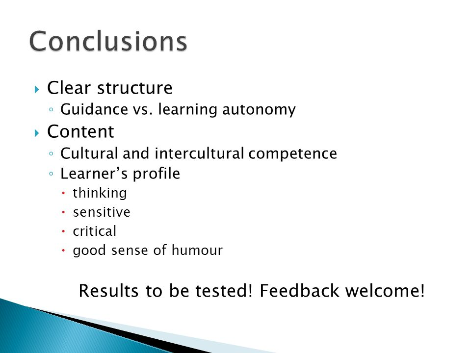 Clear structure Guidance vs.
