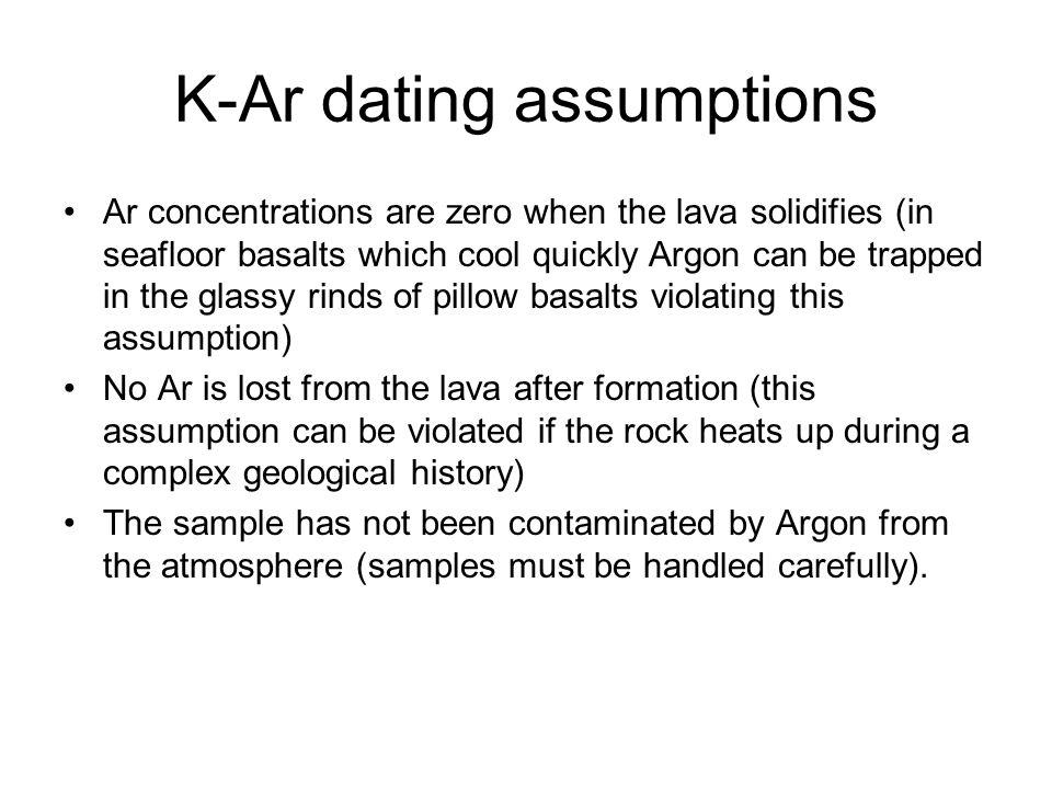 Potassium argon dating limitations