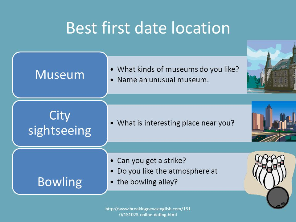 Best first date location What kinds of museums do you like.