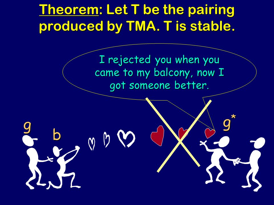 Steven Rudich: www.discretemath.com www.rudich.net Theorem: Let T be the pairing produced by TMA.