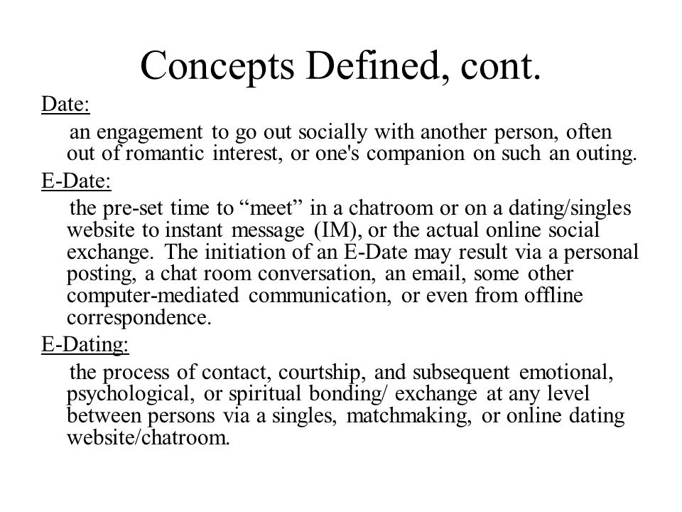 Concepts Defined, cont.