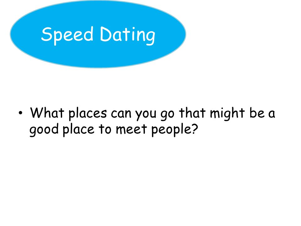 good and bad things about speed dating