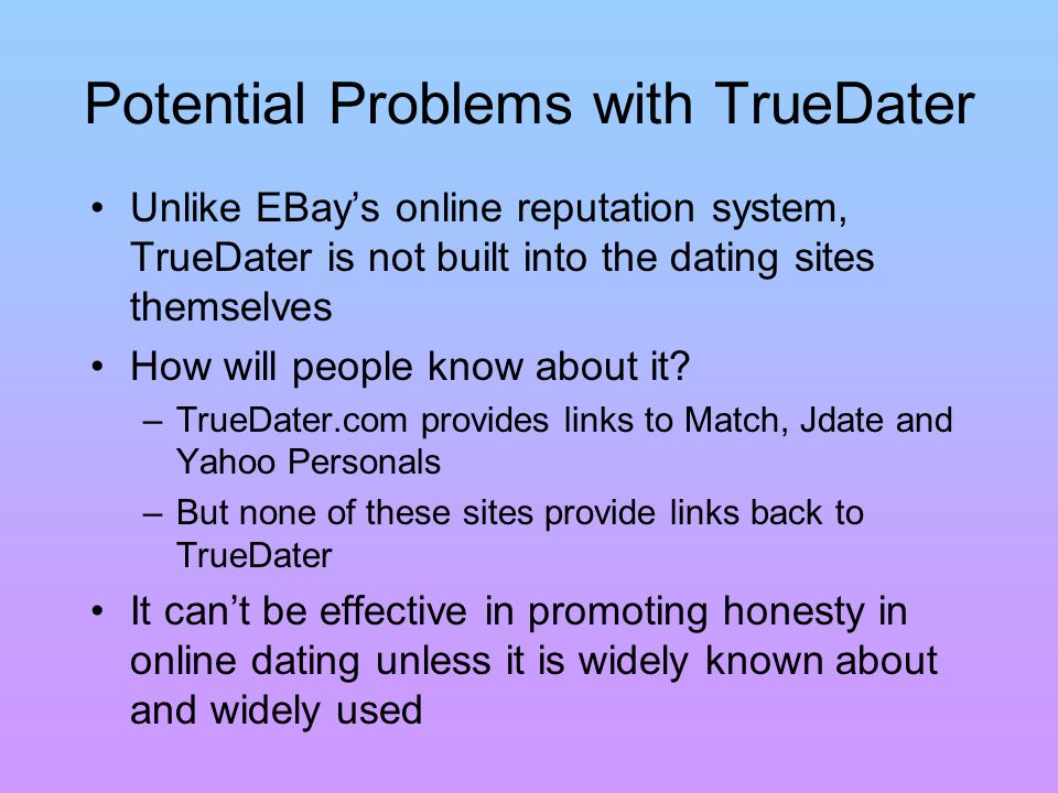 online dating site reputations