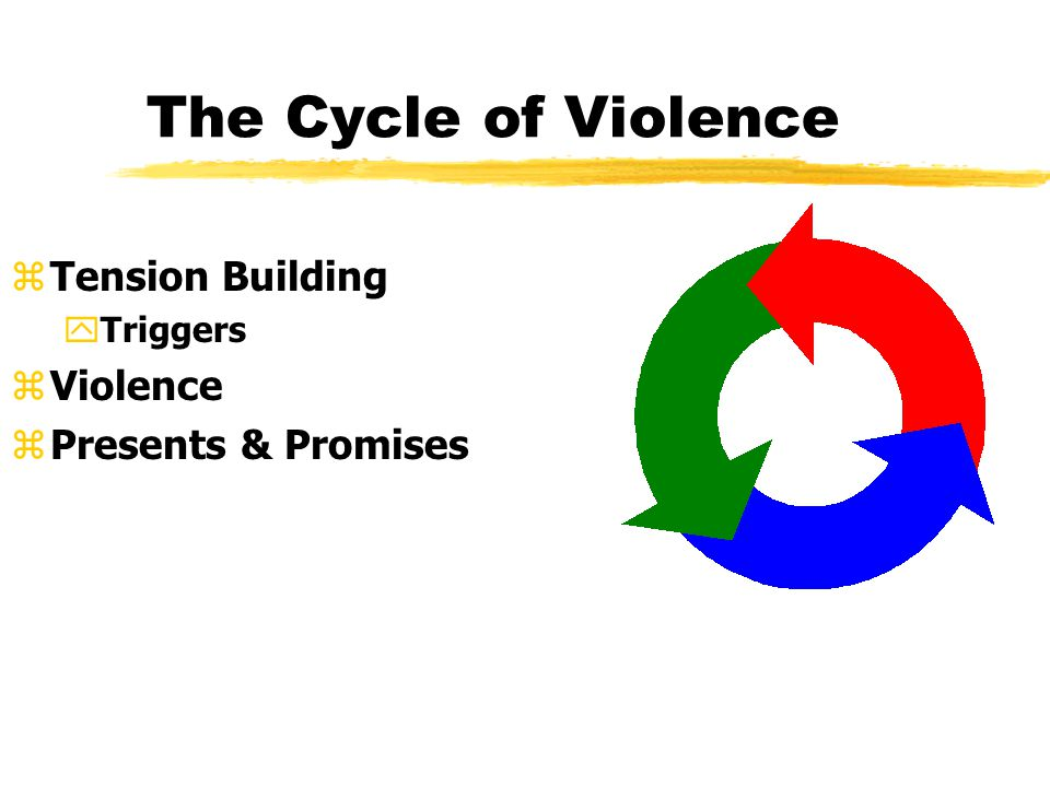 zTension Building yTriggers zViolence zPresents & Promises The Cycle of Violence