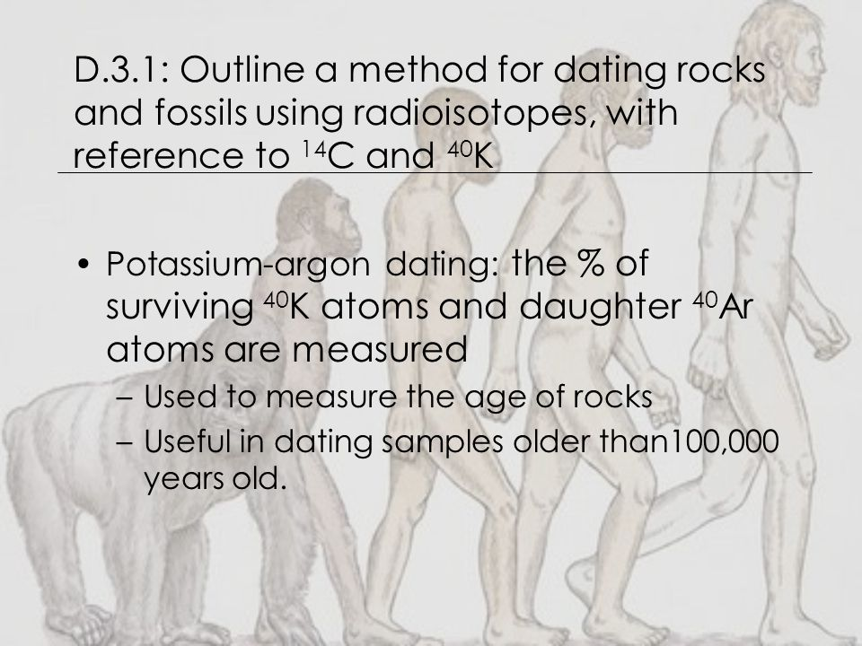 What rocks use potasium 40 for dating