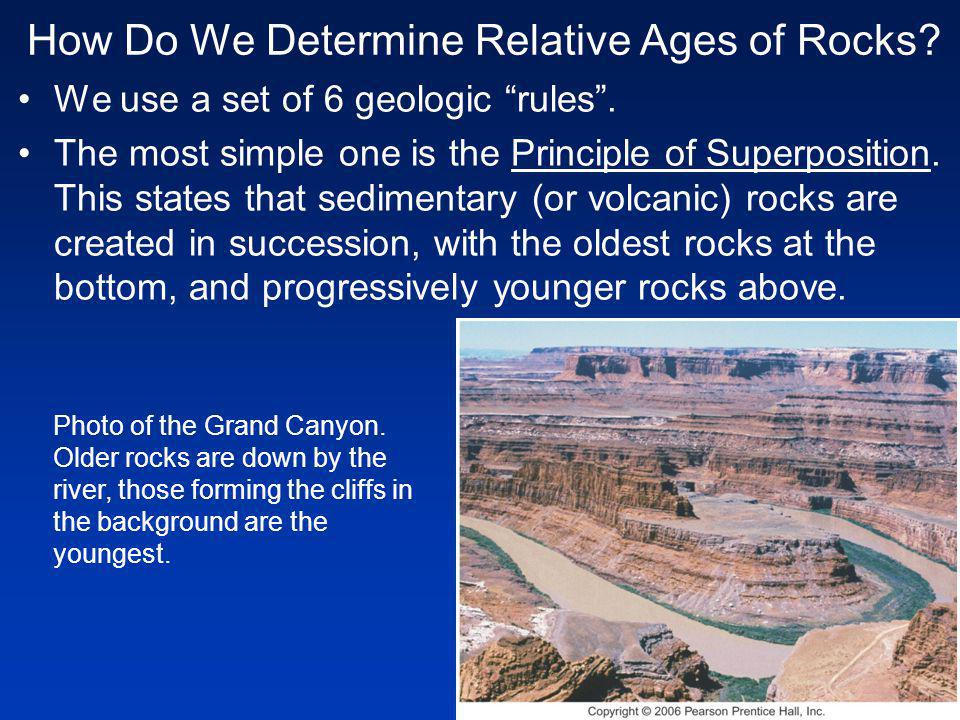 How Do We Determine Relative Ages of Rocks. We use a set of 6 geologic rules.