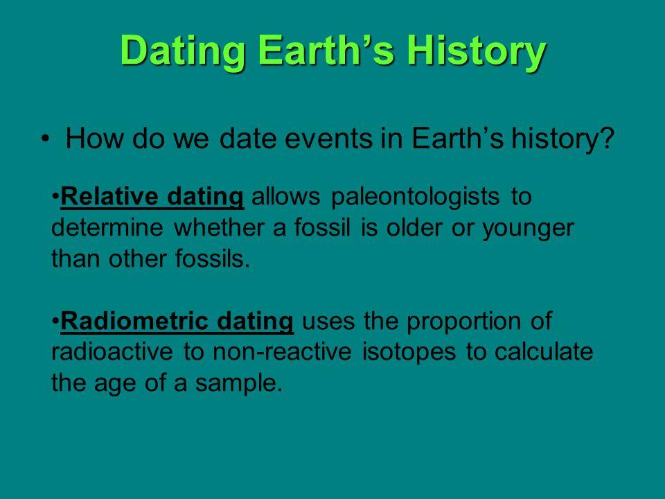 How do paleontologists use radiometric dating