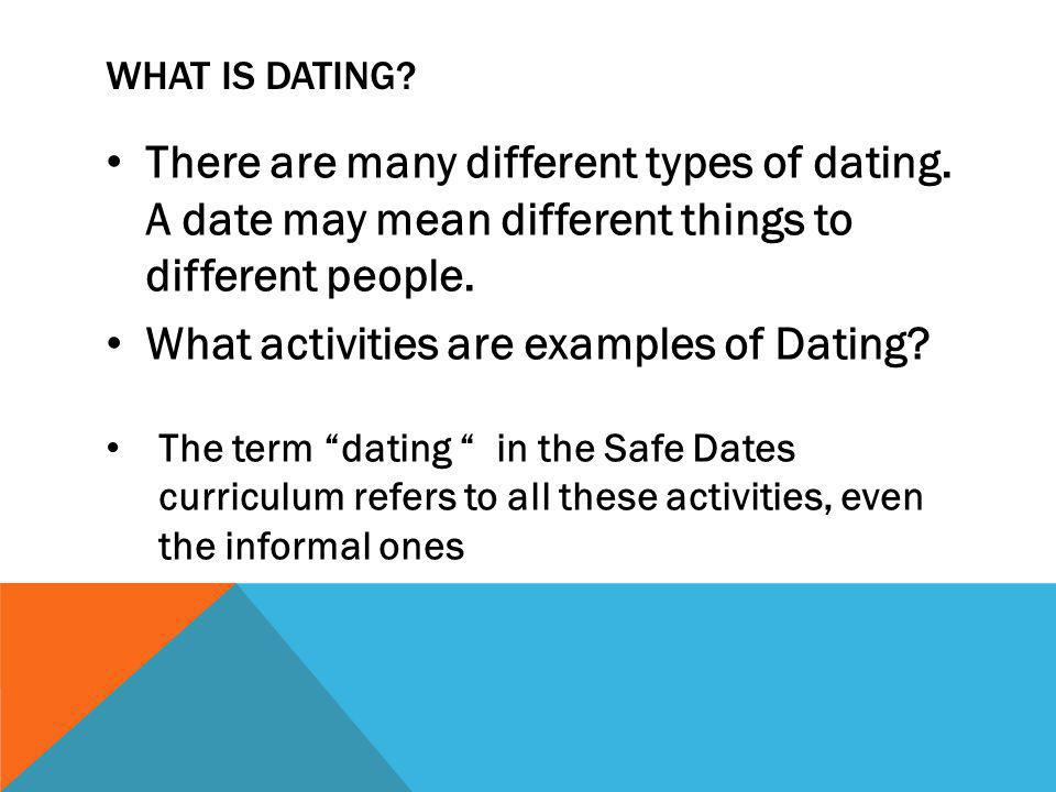 4 different types of dating