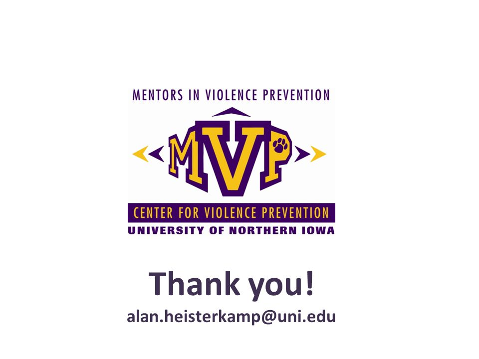 Thank you! alan.heisterkamp@uni.edu