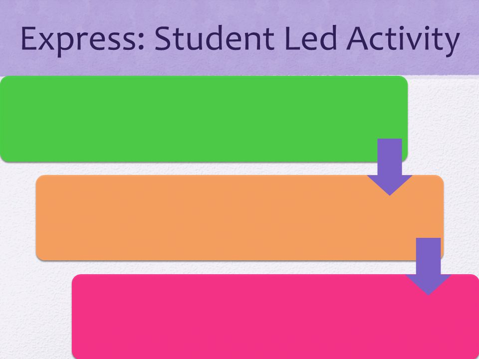 Express: Student Led Activity