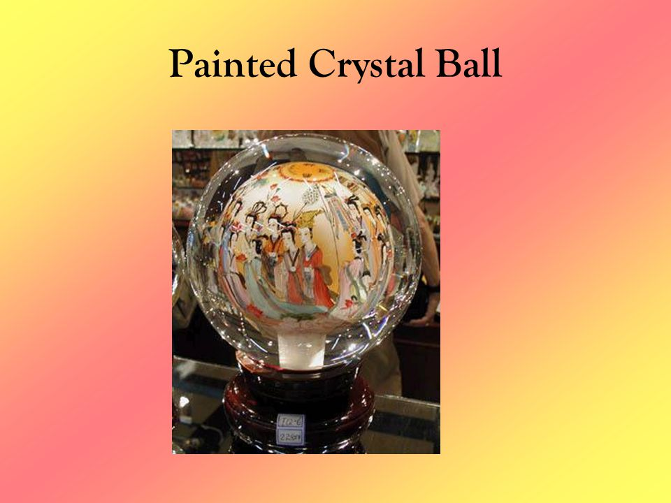 Painted Crystal Ball