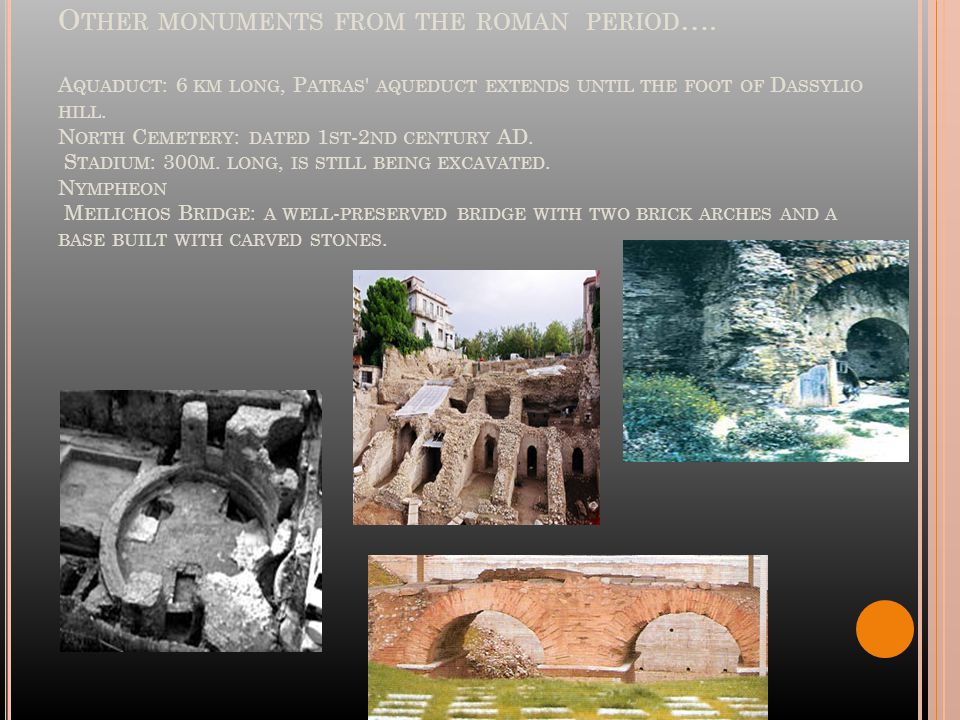 O THER MONUMENTS FROM THE ROMAN PERIOD ….
