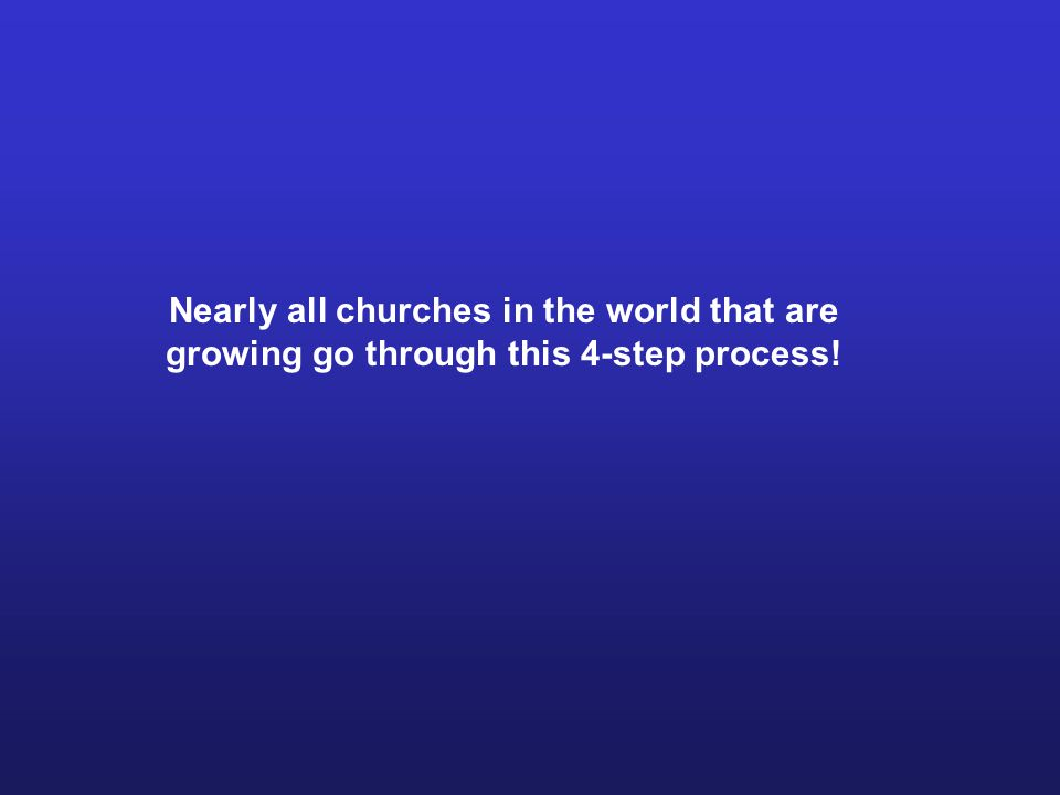 Nearly all churches in the world that are growing go through this 4-step process!