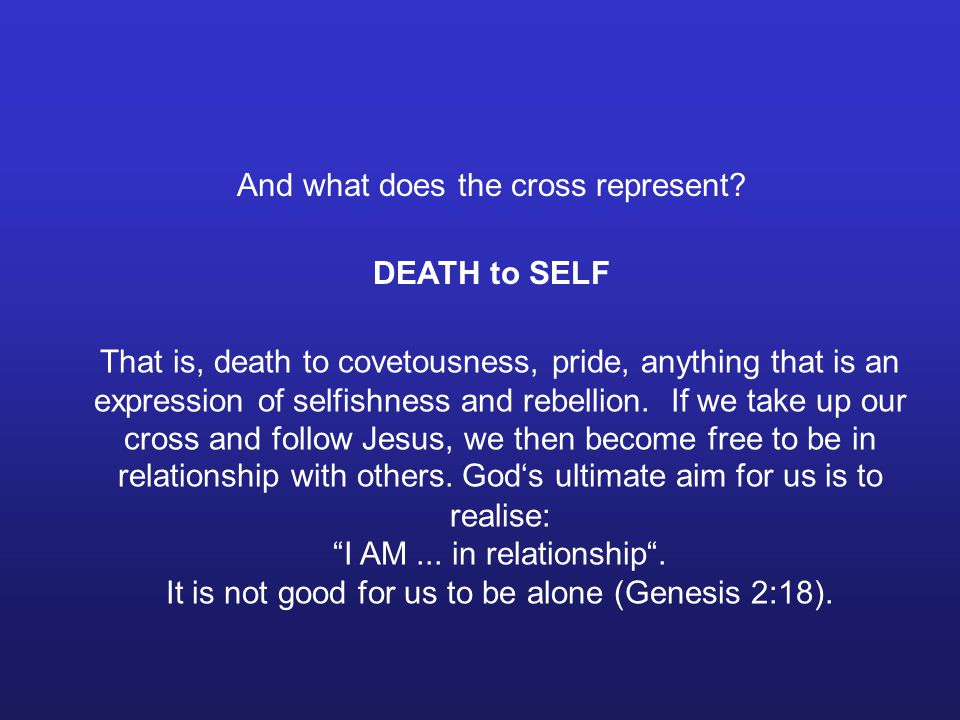 And what does the cross represent.