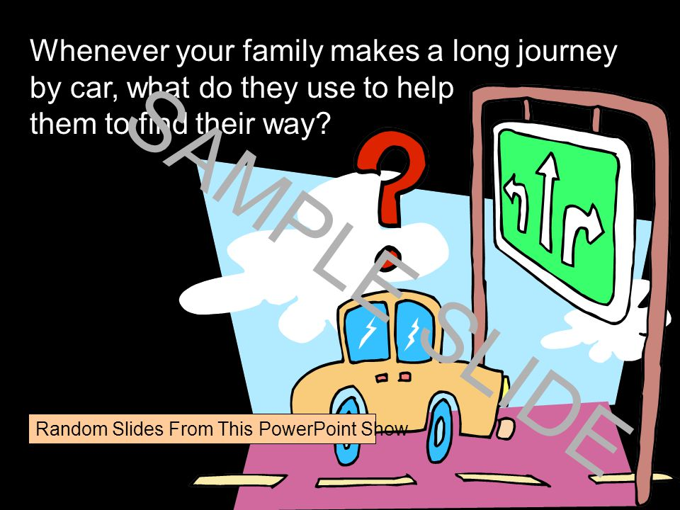 www.ks1resources.co.uk Whenever your family makes a long journey by car, what do they use to help them to find their way.