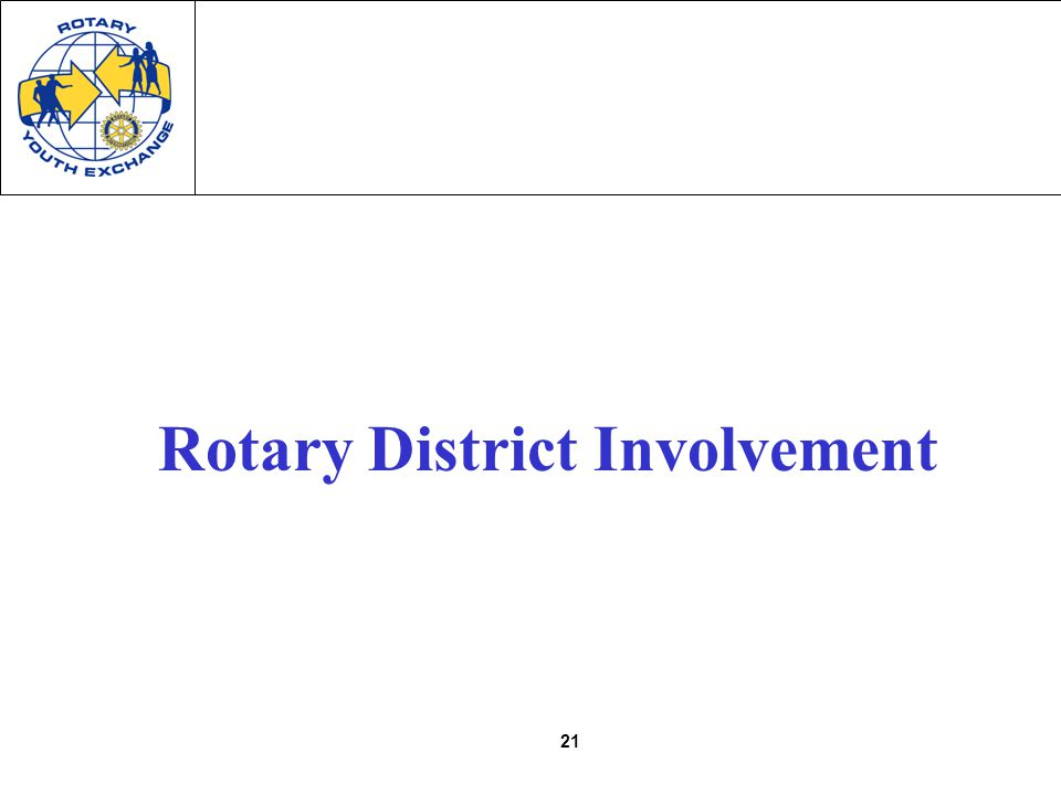 21 Rotary District Involvement