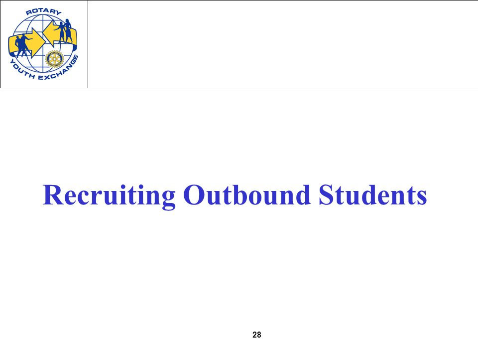 28 Recruiting Outbound Students