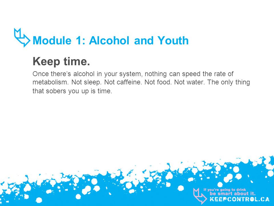 Module 1: Alcohol and Youth Keep time.