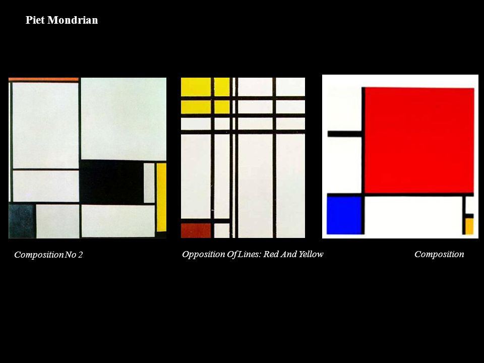 Composition No 2 Opposition Of Lines: Red And YellowComposition Piet Mondrian