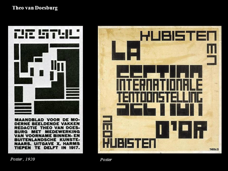 Poster, 1920 Poster Theo van Doesburg