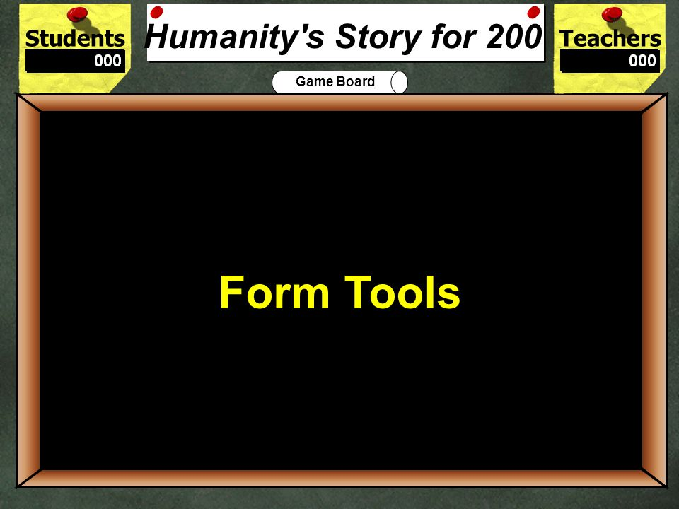 StudentsTeachers Game Board Humanitys story began in which continent.