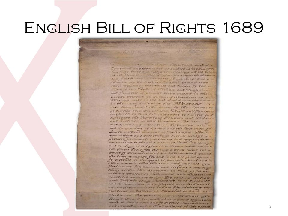 English Bill of Rights 1689 5