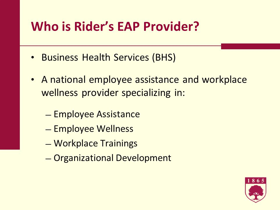Who is Riders EAP Provider.