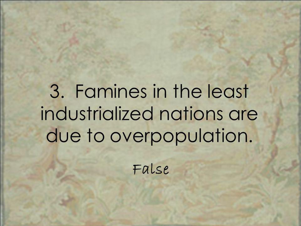 least industrialized nations