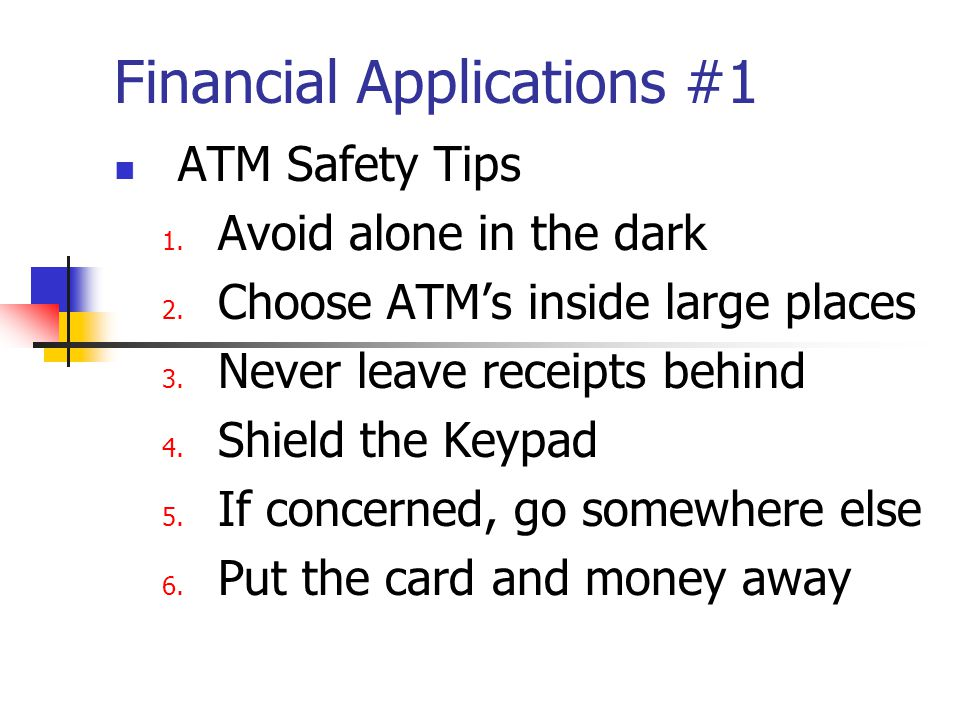 Financial Applications #1 How to Choose a Bank Account