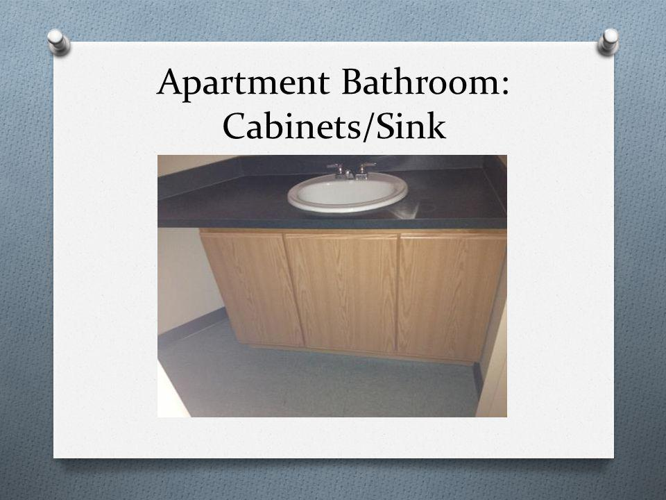 Apartment Bathroom: Cabinets/Sink