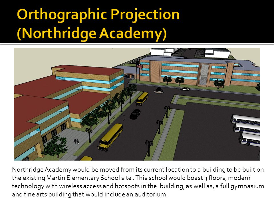 Northridge Academy would be moved from its current location to a building to be built on the existing Martin Elementary School site.