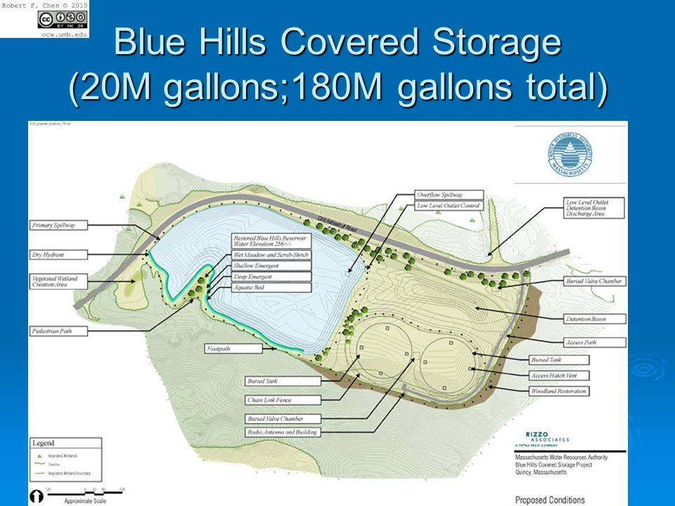 Blue Hills Covered Storage (20M gallons;180M gallons total)