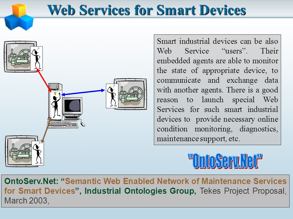 Web Services for Smart Devices Smart industrial devices can be also Web Service users.