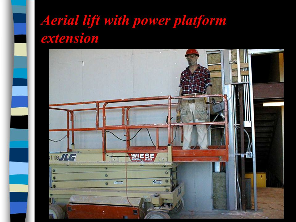 Aerial lift with power platform extension