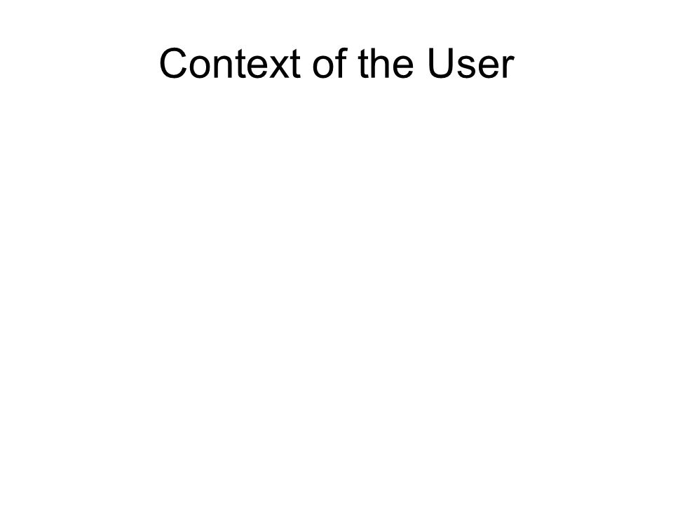 Context of the User