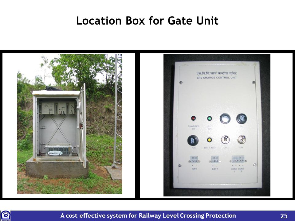 A cost effective system for Railway Level Crossing Protection 25 Location Box for Gate Unit