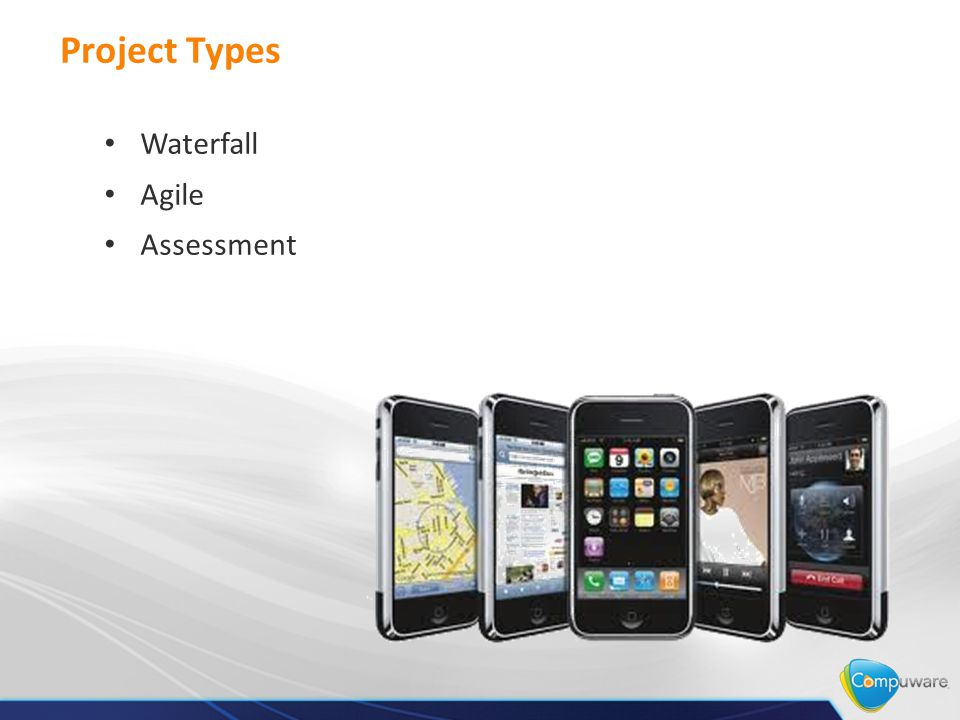 Project Types Waterfall Agile Assessment
