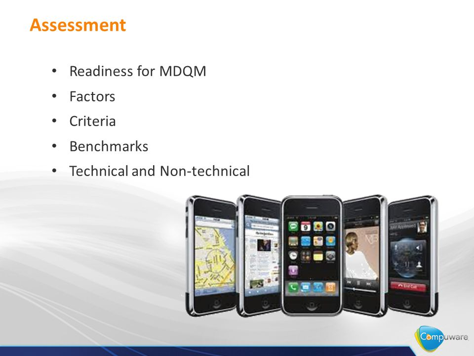 Assessment Readiness for MDQM Factors Criteria Benchmarks Technical and Non-technical