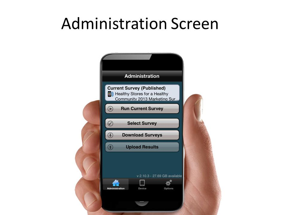 Administration Screen