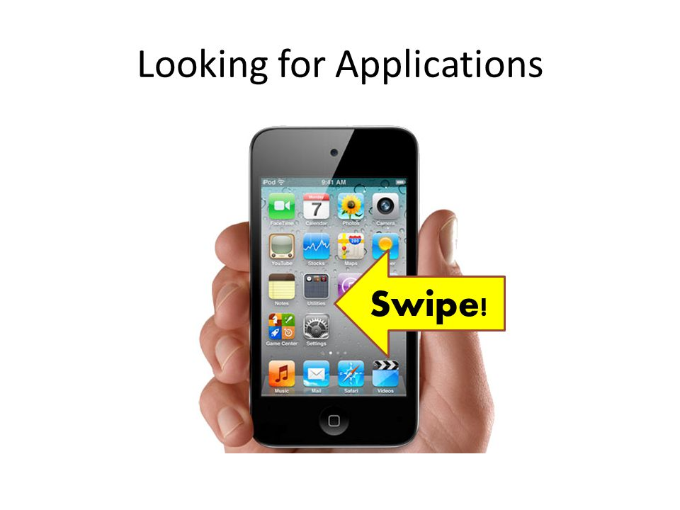 Looking for Applications Swipe!