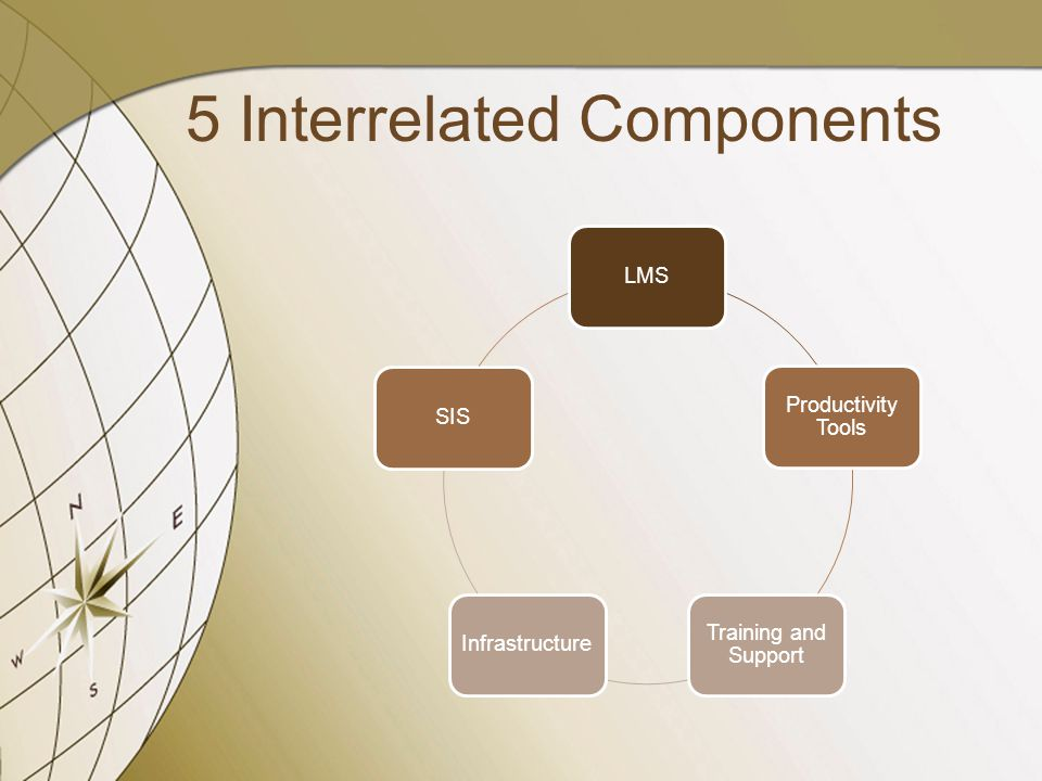 LMS Productivity Tools Training and Support InfrastructureSIS 5 Interrelated Components