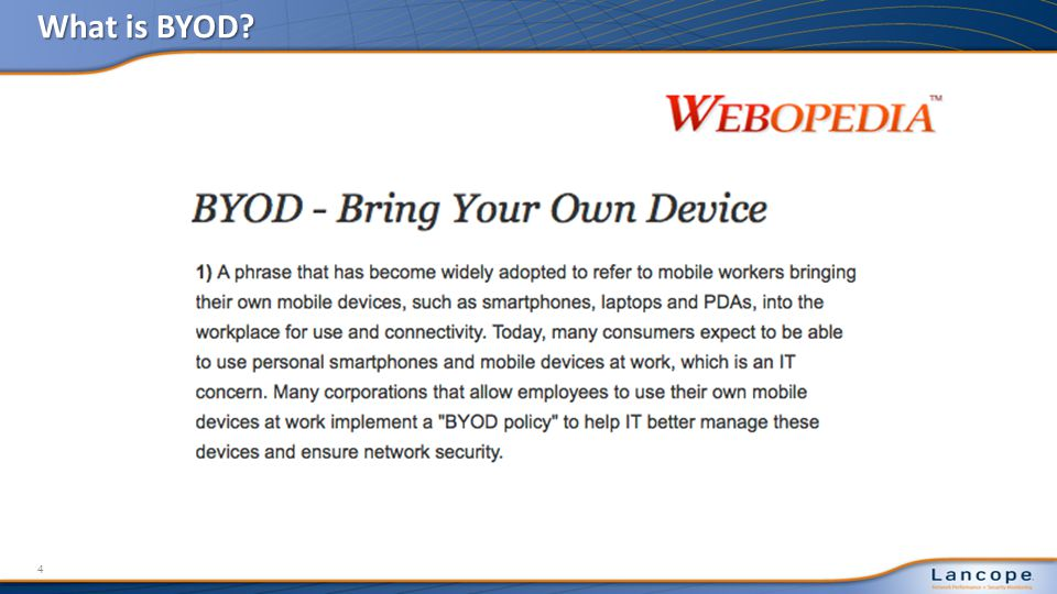 What is BYOD 4