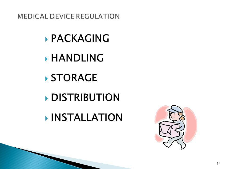 PACKAGING HANDLING STORAGE DISTRIBUTION INSTALLATION 14