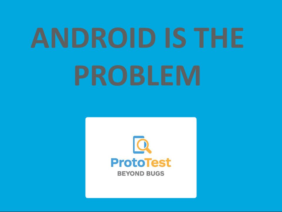 ANDROID IS THE PROBLEM