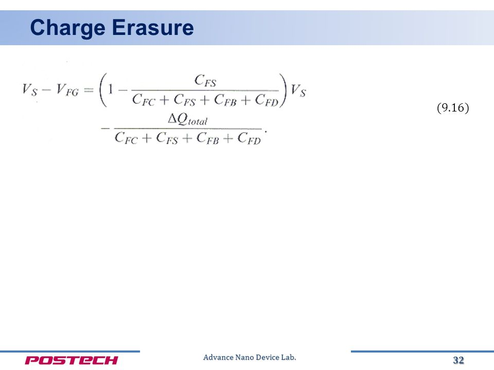 Advance Nano Device Lab. Charge Erasure 32